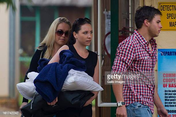Aimee Pistorius in the Pretoria Magistrate court on February 15 in Pretoria South Africa Oscar Pistorius stands accused of murder after shooting...
