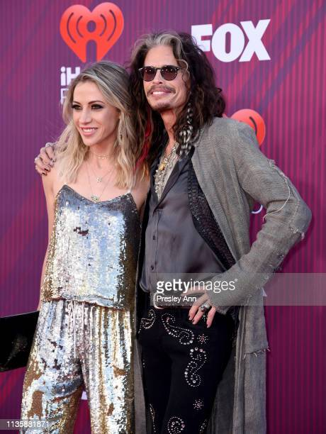 Aimee Preston and Steven Tyler attend the 2019 iHeartRadio Music Awards which broadcasted live on FOX at Microsoft Theater on March 14 2019 in Los...