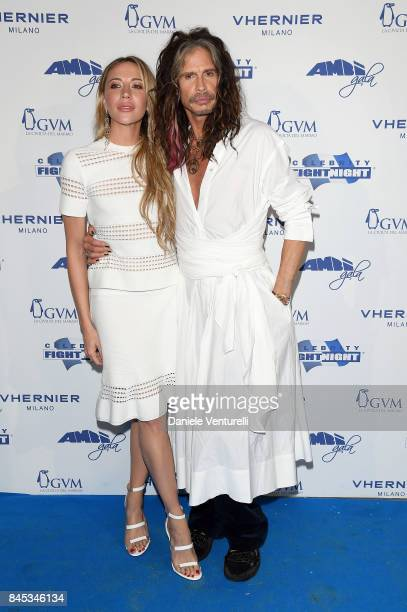 Aimee Preston and Steven Tyler attends Celebrity Fight Night on September 10 2017 in Rome Italy