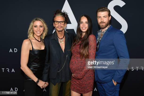 Aimee Preston Steven Tyler Chelsea Tyler and Jon Foster attend the premiere of 20th Century Fox's Ad Astra at The Cinerama Dome on September 18 2019...
