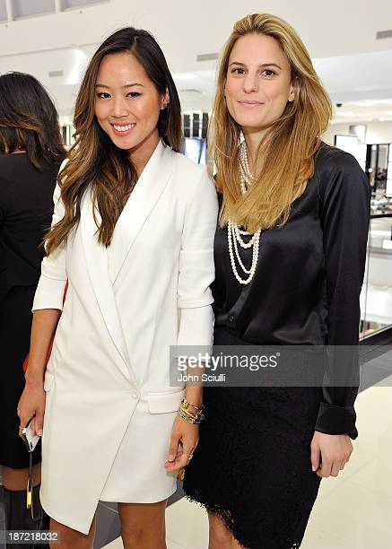 Aimee Song and Brooke Jaffe operating vice president of Fashion Direction for Women's ReadyToWear attend Bloomingdale's Glendale opening gala...