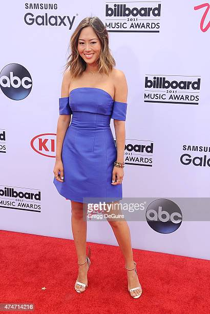 Aimee Song arrives at the 2015 Billboard Music Awards at MGM Garden Arena on May 17 2015 in Las Vegas Nevada