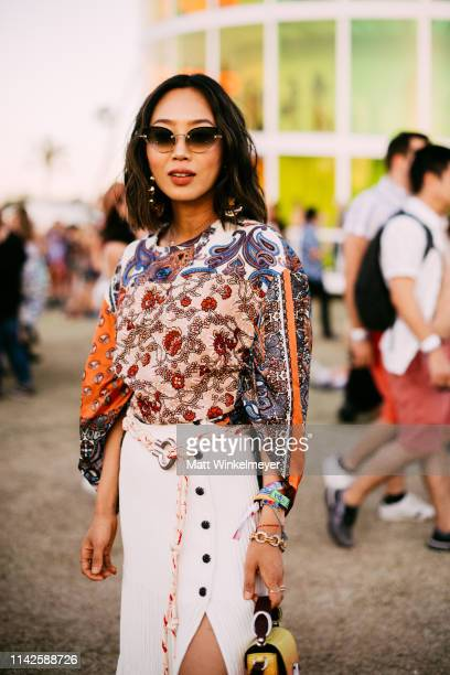 Aimee Song attends the 2019 Coachella Valley Music And Arts Festival Weekend 1 on April 13 2019 in Indio California