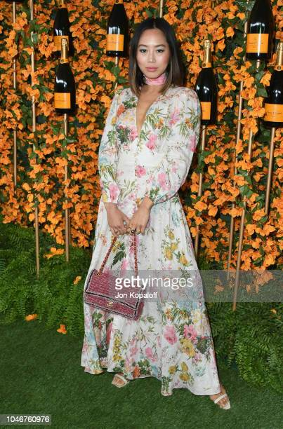 Aimee Song attends the 9th Annual Veuve Clicquot Polo Classic Los Angeles at Will Rogers State Historic Park on October 6 2018 in Pacific Palisades...