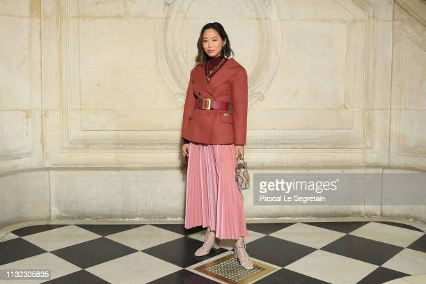 Aimee Song attends the Christian Dior show as part of the Paris Fashion Week Womenswear Fall/Winter 2019/2020 on February 26 2019 in Paris France