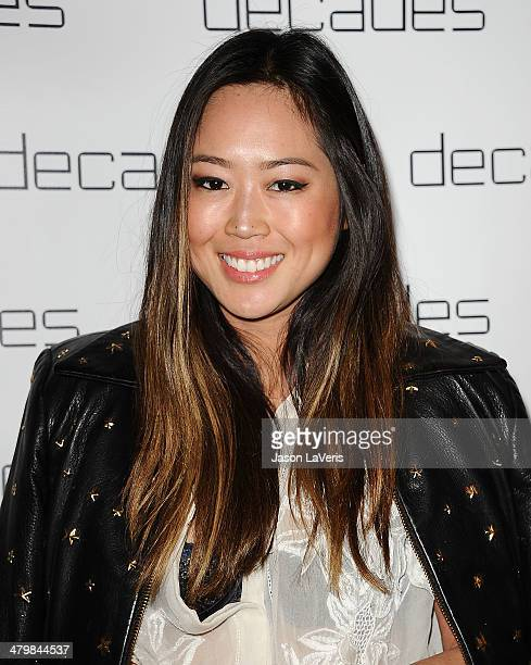 Aimee Song attends the Decades Les Must De Moschino event at Decades on March 20 2014 in Los Angeles California