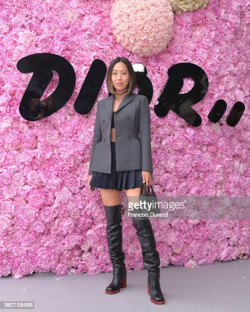 Aimee Song attends the Dior Homme Menswear Spring/Summer 2019 show as part of Paris Fashion Week on June 23 2018 in Paris France