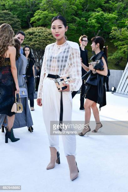 Aimee Song attends the Louis Vuitton Resort 2018 show at the Miho Museum on May 14 2017 in Koka Japan