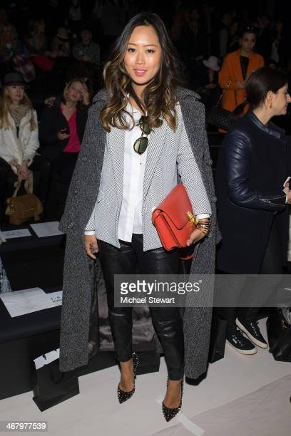 Aimee Song attends the Mara Hoffman show during MercedesBenz Fashion Week Fall 2014 at The Salon at Lincoln Center on February 8 2014 in New York City