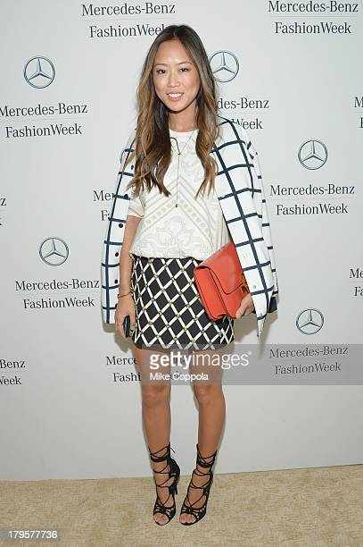 Aimee Song attends the MercedesBenz Star Lounge during MercedesBenz Fashion Week Spring 2014 at Lincoln Center on September 5 2013 in New York City