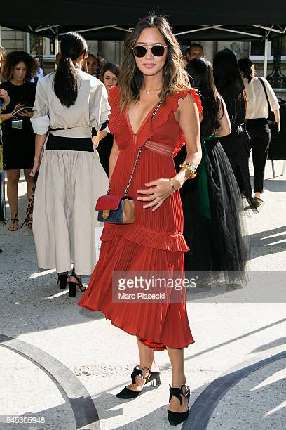 Aimee Song attends the Valentino Haute Couture Fall/Winter 20162017 show as part of Paris Fashion Week on July 6 2016 in Paris France