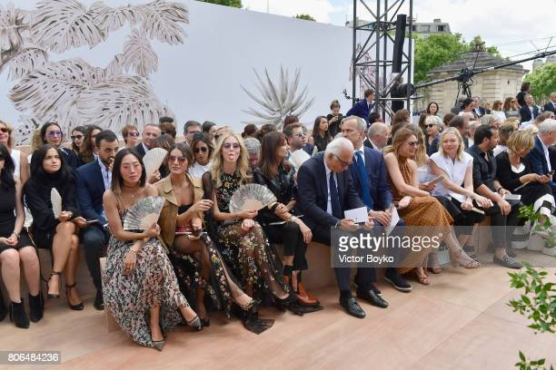 Aimee Song Camilla Coehlo and Chiara Ferragni attend the Christian Dior Haute Couture Fall/Winter 20172018 show as part of Haute Couture Paris...