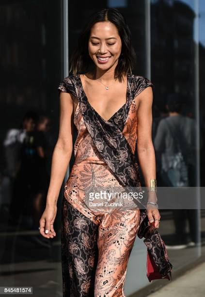 Aimee Song is seen outside the DVF show during New York Fashion Week Women's S/S 2018 on September 10 2017 in New York City