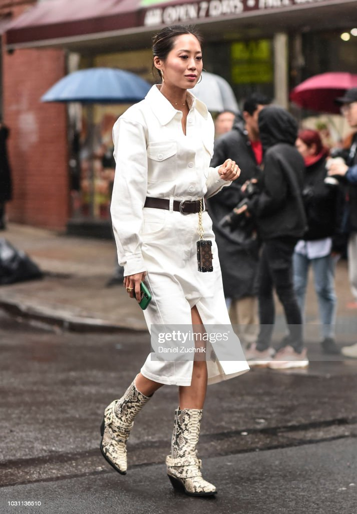 Street Style - New York Fashion Week September 2018 - Day 6 : Photo d'actualité