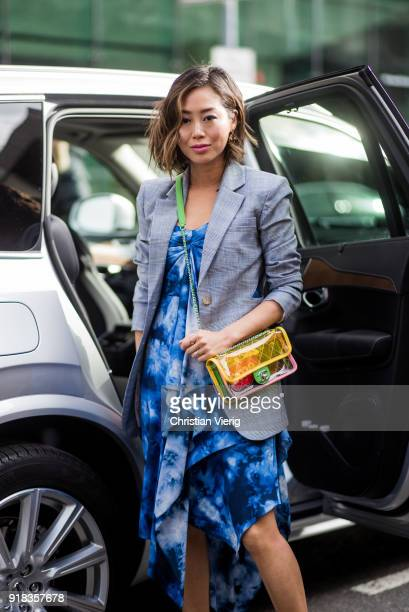 Aimee Song seen outside Michael Kors on February 14 2018 in New York City