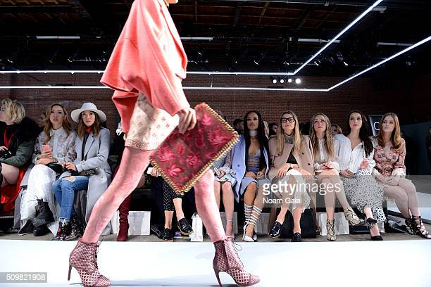 Aimee Song Serayah McNeill Jessica Hart Zella Day and Adelaide Kane attend Zimmermann Fall 2016 Runway Show at Art Beam on February 12 2016 in New...