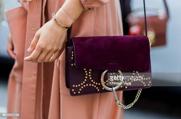 Aimee Song wearing a dress and Chloe bag outside Tibi on September 10 2016 in New York City