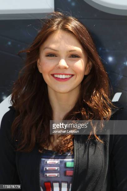 Aimee Teegarden attends the Course Of The Force 2013, An Epic Lightsaber Relay, Benefiting Make-A-Wish Foundation - Day 2 at on July 12, 2013 in...