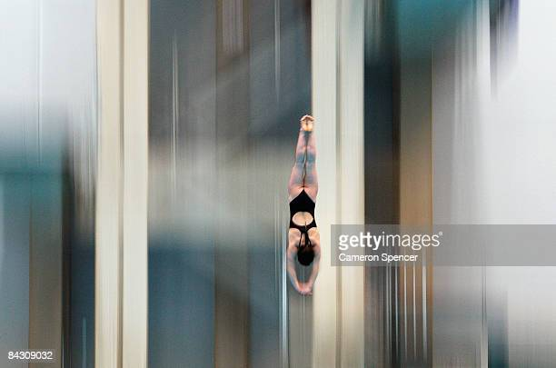 Aimee Walker of Great Britain in action during day three of the Australian Youth Olympic Festival at the Sydney Olympic Park Aquatic Centre on...