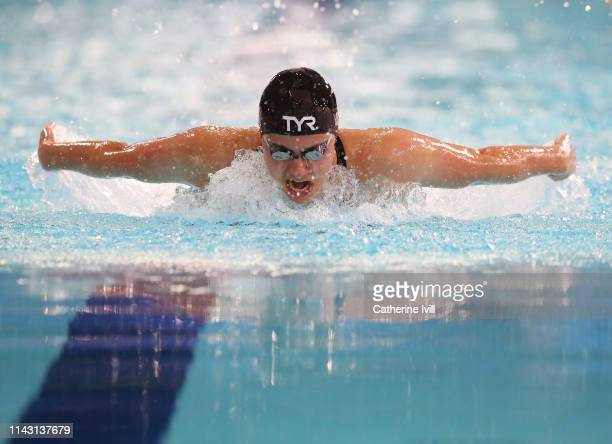 Aimee Willmott competes in the Women's 400m IM final during Day One of the British Swimming Championships at Tollcross International Swimming Centre...