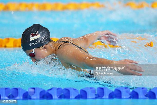 Aimee Willmott of England competes in the Women's 200m Butterfly Final at Tollcross International Swimming Centre during day five of the Glasgow 2014...