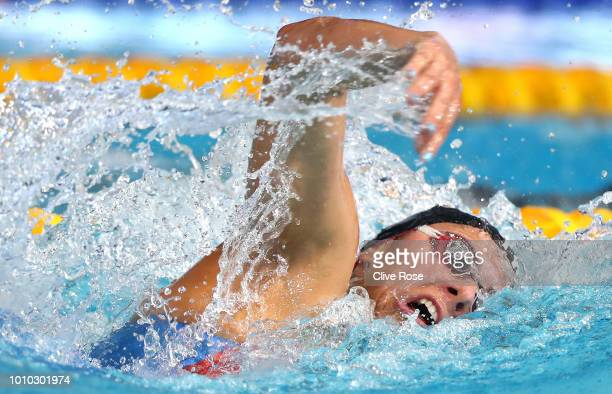 Aimee Willmott of Great Britain competes during the Women's 400m Individual Medley Final during the swimming on Day two of the European Championships...