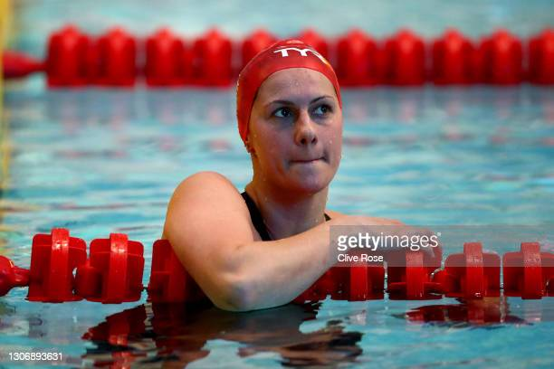 Aimee Willmott of Great Britain competes in the Women's 400 Individual Medley Final on day two of the British Swimming Invitation Meet at the...