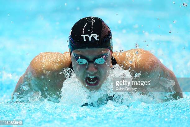 Aimee Willmott of Great Britain competes in the Women's 400m Individual Medley heats on day eight of the Gwangju 2019 FINA World Championships at...
