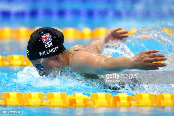 Aimee Willmott of Great Britain competes in the Women's 400m Individual Medley Final on day one of the British Swimming Selection Trials 2021 at the...