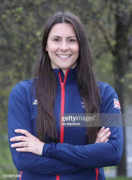 Aimee Willmott of Great Britain poses for a photo to mark the official announcement of the swimming team selected to Team GB for the Tokyo 2020...