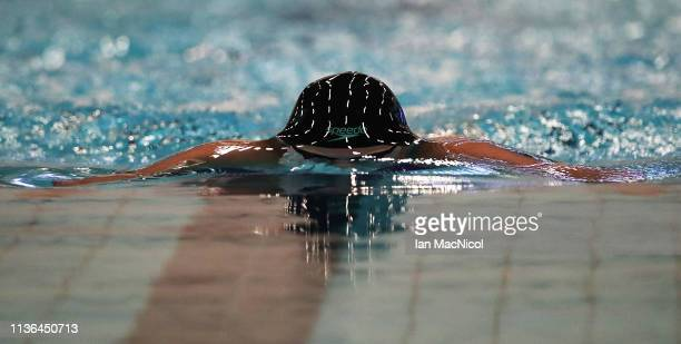 Aimee Willmott of University of Stirling competes in the final of the Women's 200m Breaststroke during day three of The Edinburgh International Swim...