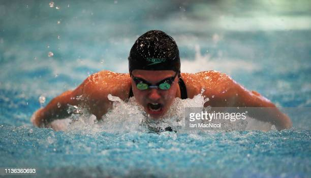 Aimee Willmott of University of Stirling competes in the heats of the Women's 200m IM during day three of The Edinburgh International Swim Meet at...