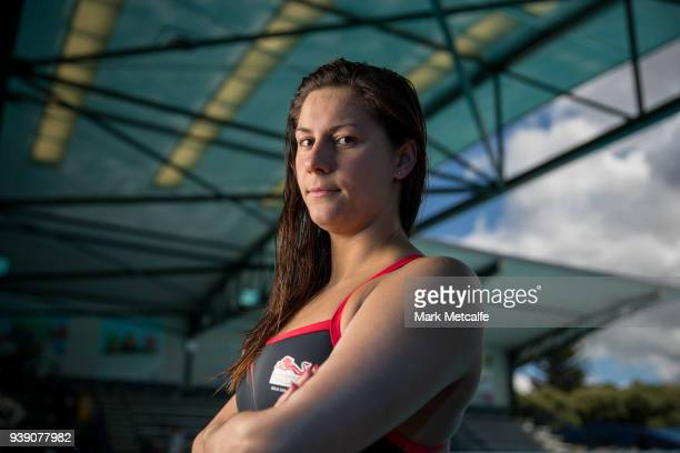 Aimee Willmott poses during a Team England media opportunity ahead of the 2018 Gold Coast Commonwealth Games at Somerville High School on March 28...
