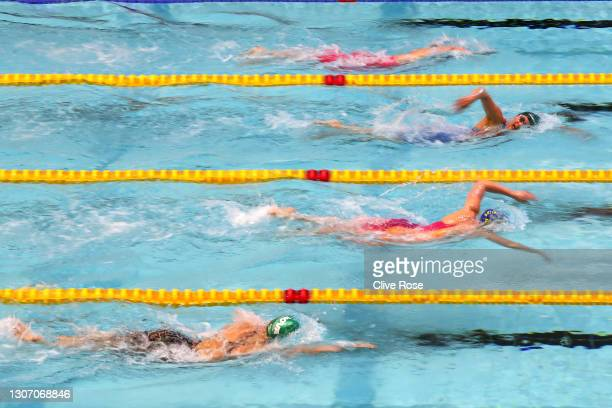 Aimee Wilmott of Great Britain competes in the Women's 800m Freestyle Final on day three of the British Swimming Invitation Meet at the Manchester...