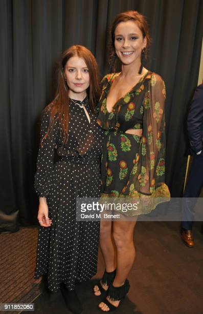 AimeeFfion Edwards and Bella Dayne attend an exclusive preview screening of new BBC One drama Troy Fall Of A City at BFI Southbank on January 29 2018...