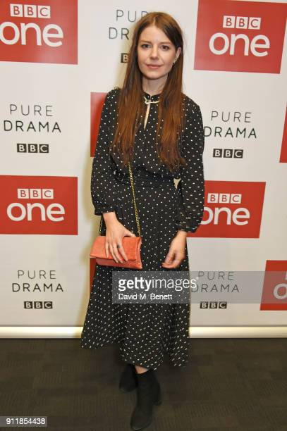 AimeeFfion Edwards attends an exclusive preview screening of new BBC One drama Troy Fall Of A City at BFI Southbank on January 29 2018 in London...
