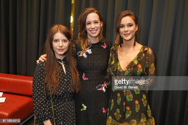 AimeeFfion Edwards Chloe Pirrie and Bella Dayne attend an exclusive preview screening of new BBC One drama Troy Fall Of A City at BFI Southbank on...