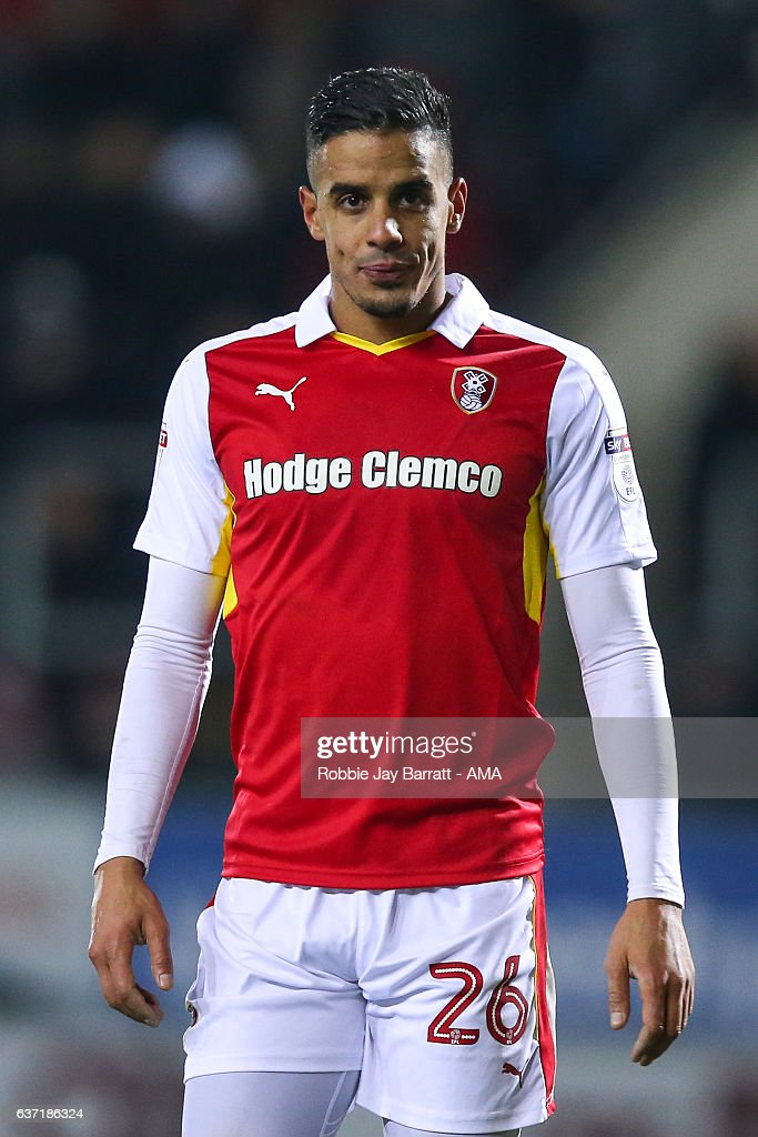 Aimen Belaid of Rotherham United during the Sky Bet Championship match between Rotherham United and Burton Albion at The New York Stadium on December 29, 2016 in Rotherham, England.