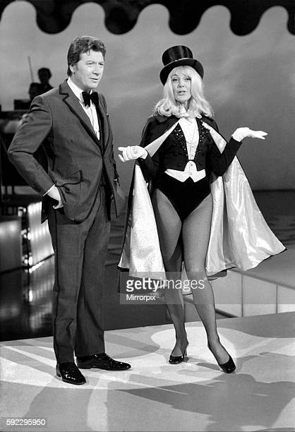 Aimi Macdonald pictured as The Great Nervo the conjurer when she appears in a forthcoming Max Bygraves show December 1969 Z12492