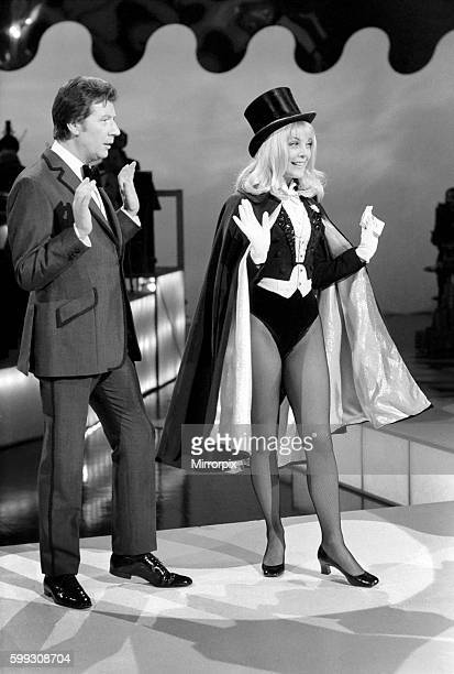 Aimi Macdonald pictured as The Great Nervo the conjurer when she appears in a forthcoming Max Bygraves show December 1969 Z12492003