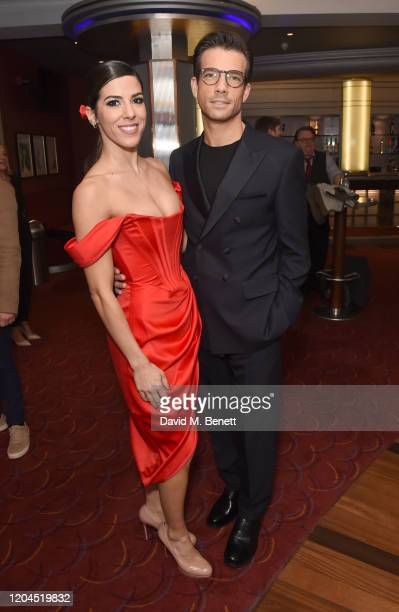 Aimie Atkinson and Danny Mac attend The WhatsOnStage Awards 2020 at The Prince of Wales Theatre on March 1 2020 in London England