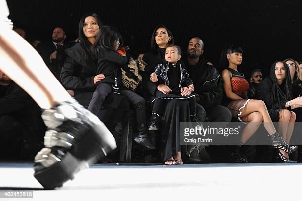 Aimie Wang Alia Wang Kim Kardashian North West Kanye West Nicki Minaj and Zoe Kravitz attend the Alexander Wang Fashion Show during MercedesBenz...