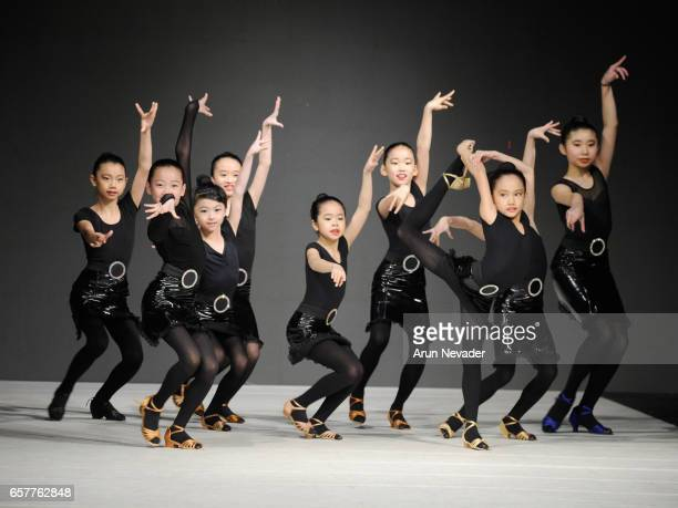 AImperial Ballroom dancers perform onstage at Vancouver Fashion Week Fall/Winter 2017 at Chinese Cultural Centre of Greater Vancouver on March 25...