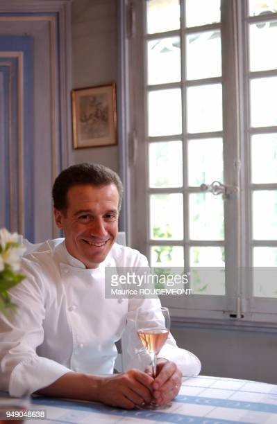 French chef Philippe Jousse from Alain Chapel restaurant in Mionnay Ain le chef cuisinier français Philippe Jousse du restaurant Alain Chapel à...
