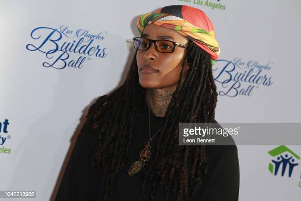 Aina Brei'Yon attends Habitat For Humanity Of Greater Los Angeles' 2018 Los Angeles Builders Ball at The Beverly Hilton Hotel on September 27 2018 in...
