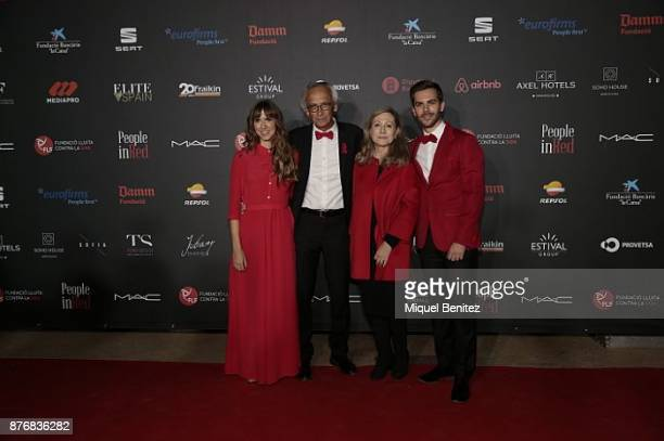 Aina Clotet Bonaventura Clotet Fresquet and Marc Clotet attend the 'People in Red' Charity Party event for investigation against Aids at Palau de...
