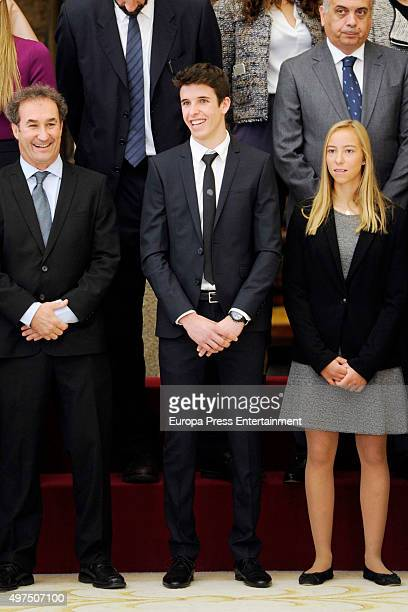 Aina Colom and Alex Marquez attend a National Sports Awards 2015 on November 17 2015 in Madrid Spain