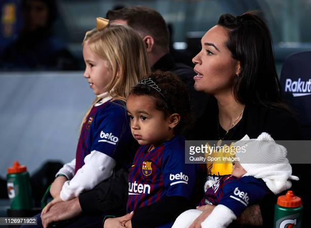 Aine Coutinho looks on before the La Liga match between FC Barcelona and Valencia CF at Camp Nou on February 02 2019 in Barcelona Spain
