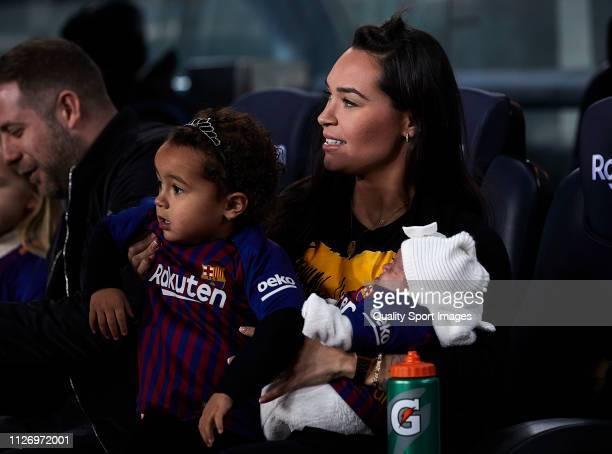Aine Coutinho smiles before the La Liga match between FC Barcelona and Valencia CF at Camp Nou on February 02 2019 in Barcelona Spain