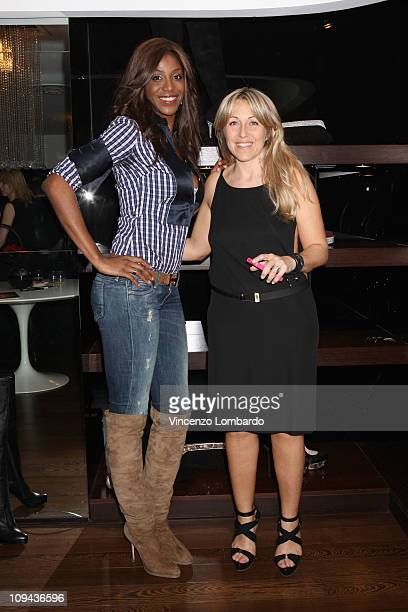 Ainett Stephens and Monica Ciabattini attend Le Silla presentation during Milan Fashion Week Womenswear Autumn/Winter 2011 on February 25 2011 in...